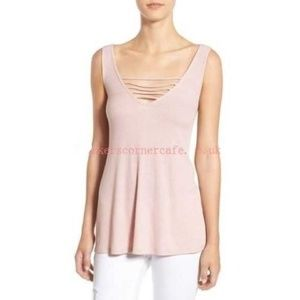 New Nordstrom Socialite Strappy Rib Knit Tank Top